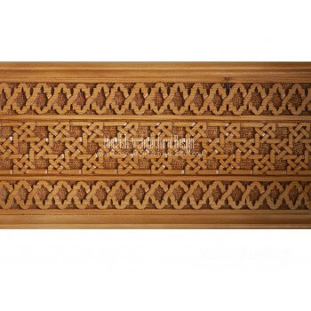 Moroccan Carved Wood Panel 12