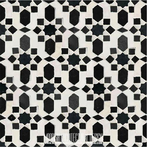 Moroccan Monochrome Tile 01
