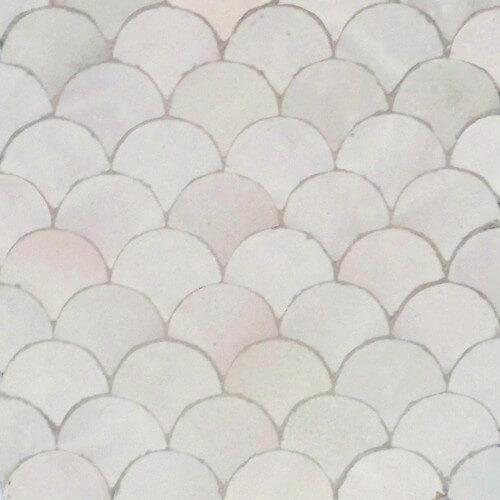 White Moroccan Tile 02