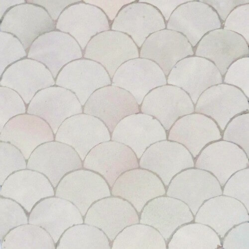 White Moroccan mosaic bathroom tile