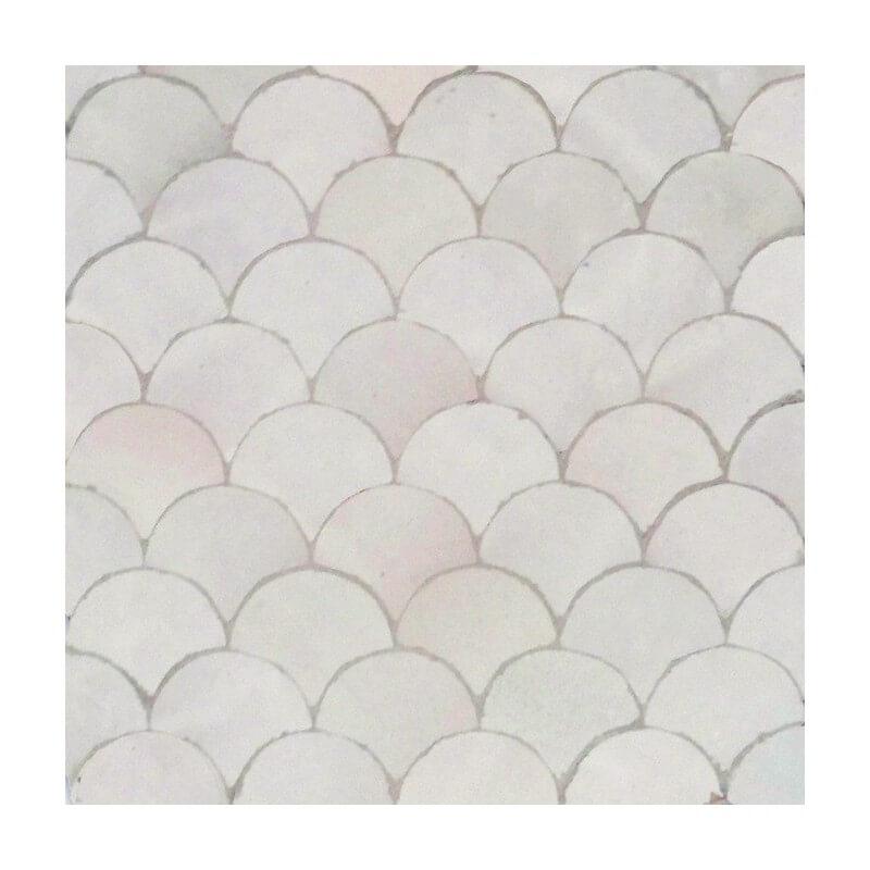 White Moroccan mosaic bathroom tile