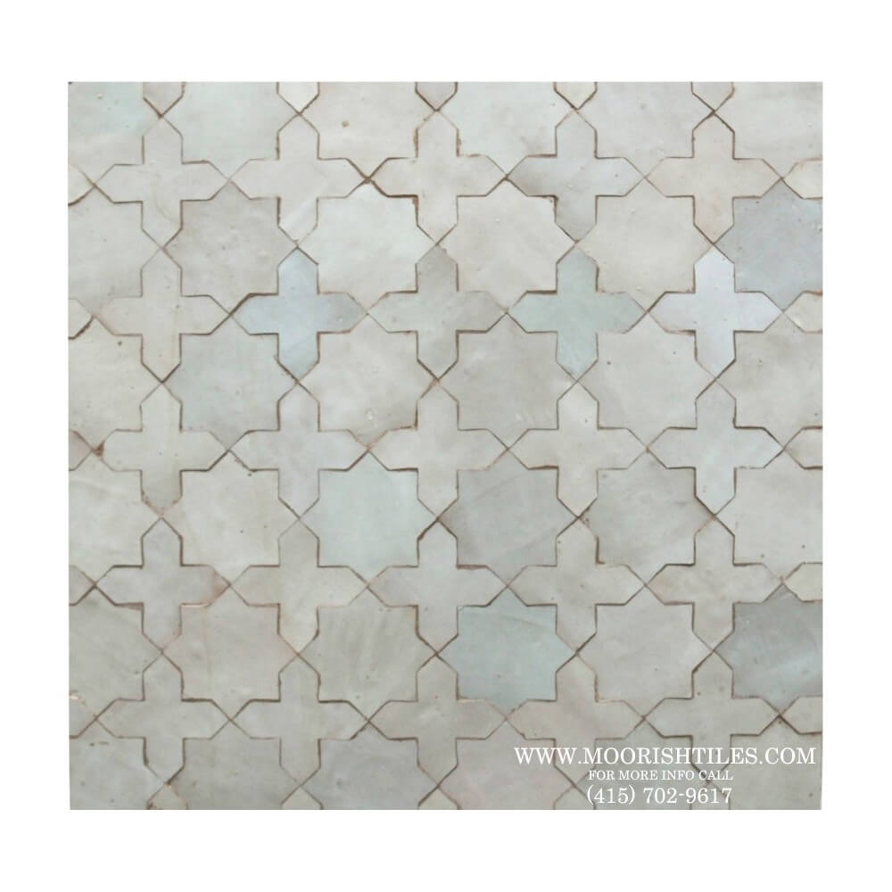 White Moroccan Bathroom Wall Tile