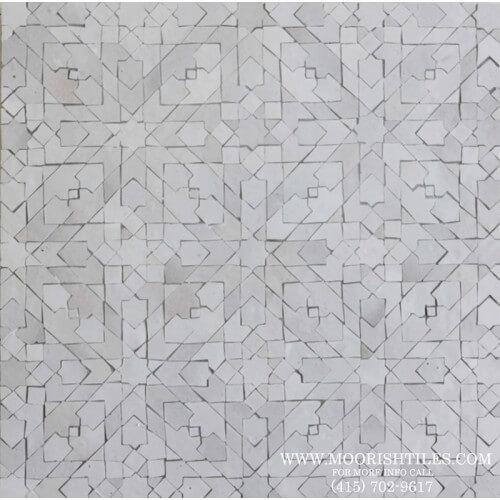 White Moroccan Tile 08