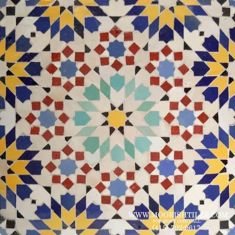 Zellige moresque tile andalusian tile for Fez tiles