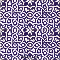 Spanish blue ceramic bathroom tile