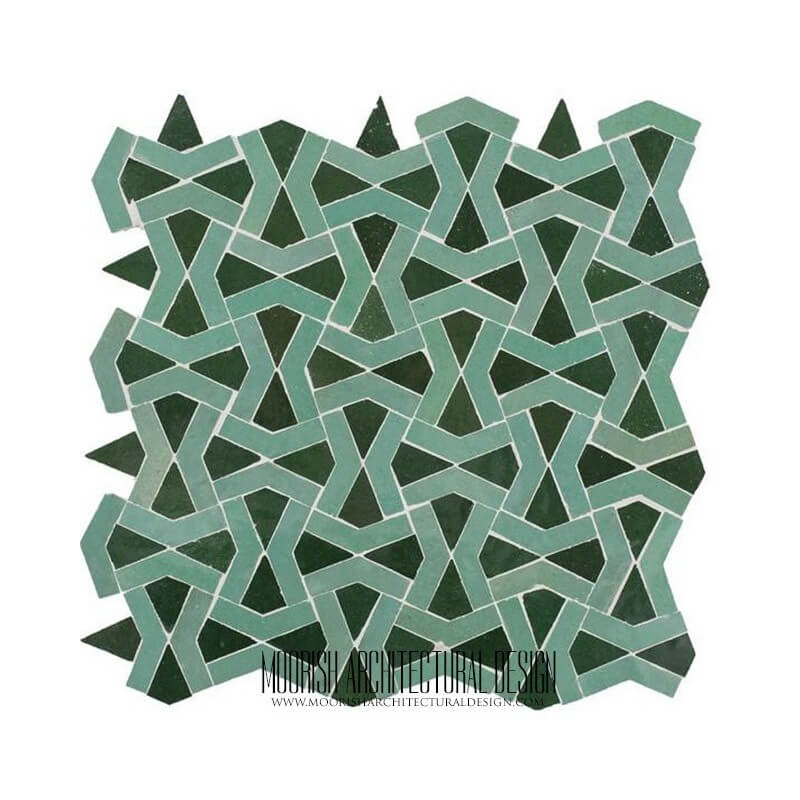 Green Moorish Bathroom Tile