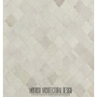 Moroccan kitchen tile white