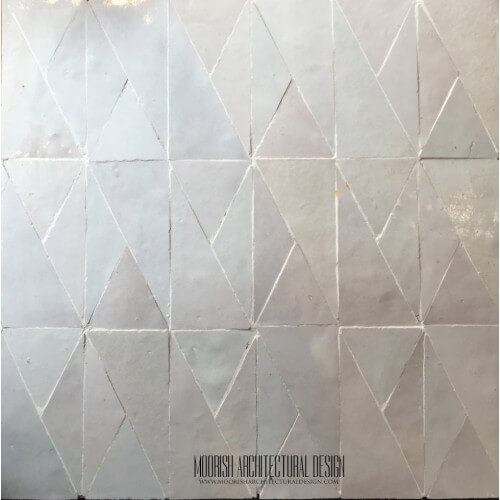 White Moroccan Bathroom tile design ideas