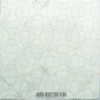 White Moroccan Tile 12