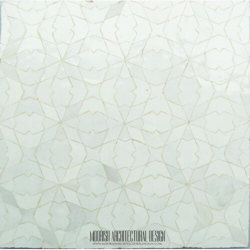 White Moroccan Tile 12