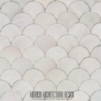 White Moroccan Fish Scales Tile