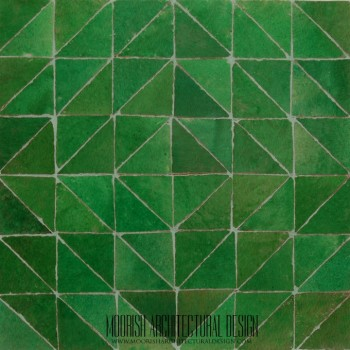 Green Triangles Tile