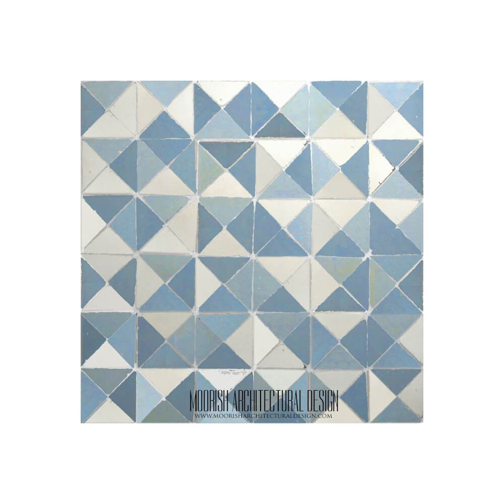 Blue moroccan mosaic bathroom floor tile dailygadgetfo Image collections