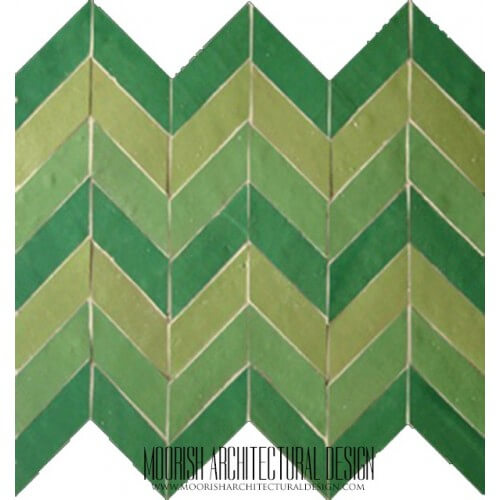 Moroccan herringbone Kitchen Tile pattern