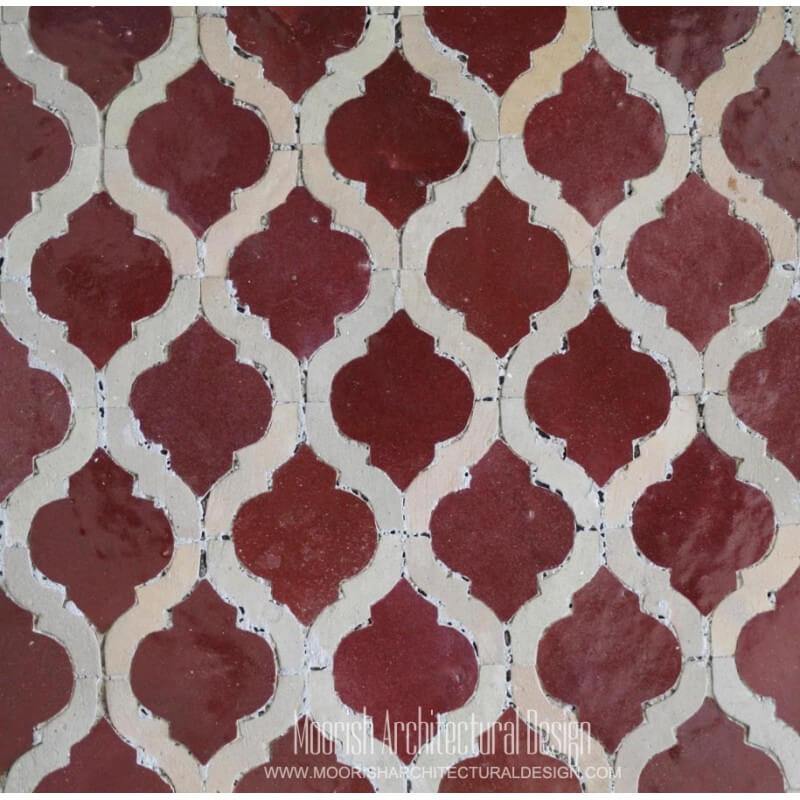 Red Arabesque Tile