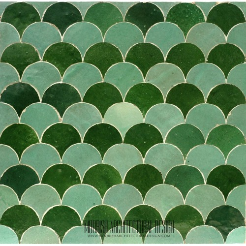 Green Fish Scales Tile