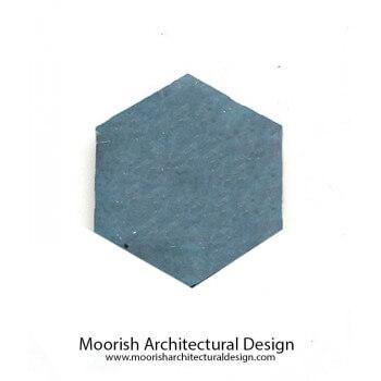Teal Blue Hexagon Tile
