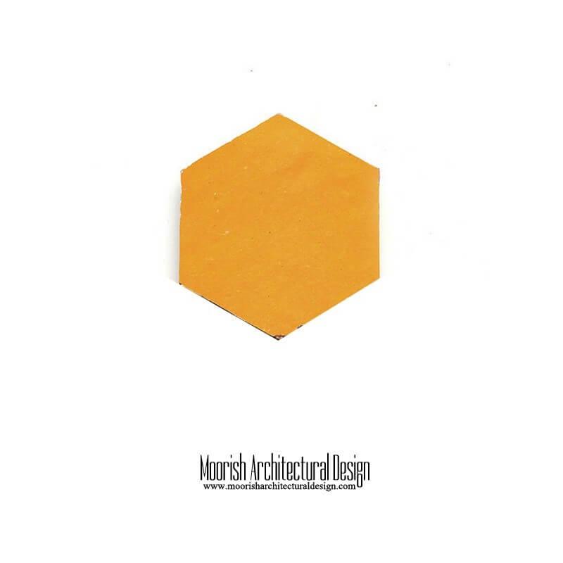 Yellow Moroccan Hex Tile