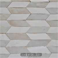 White Zellige Moroccan Tile