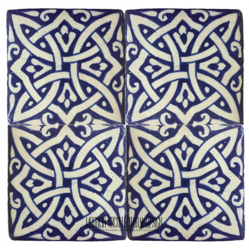 Moroccan Pool Tile Blue