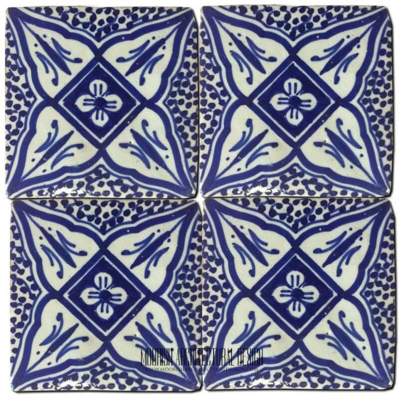 Blue Moroccan Shower Tile