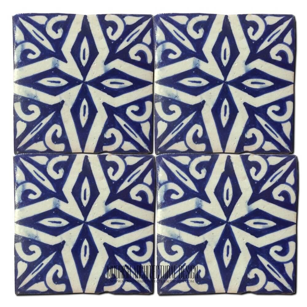 Moorish kitchen wall tile design ideas for Fez tiles