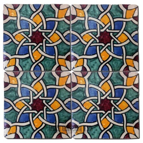 Moroccan Hand Painted Tile 20