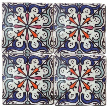 Moroccan Hand Painted Tile 21