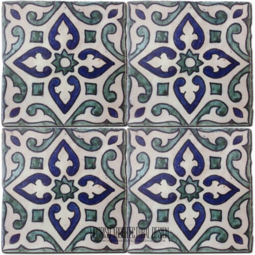 Moroccan Hand Painted Tile 22
