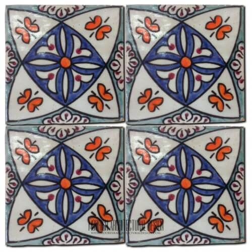 Moroccan Hand Painted Tile 24