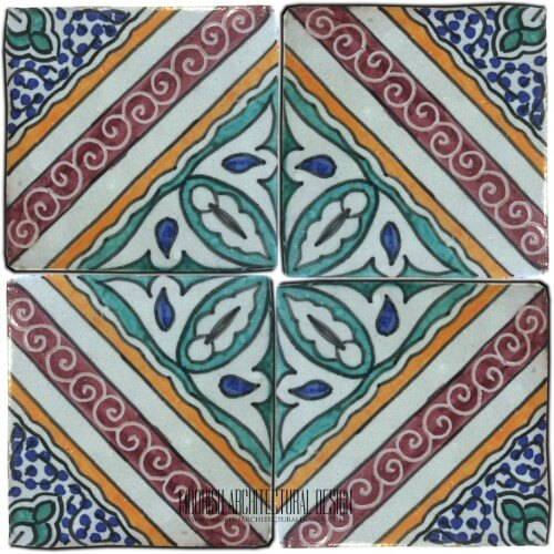 Moroccan Hand Painted Tile 28