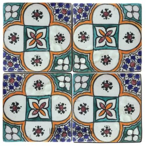 Moroccan Hand Painted Tile 37