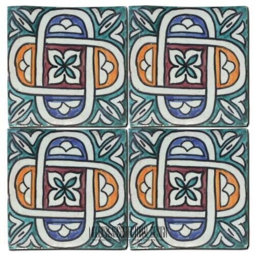 Moroccan Hand Painted Tile 38