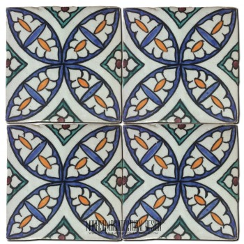 Moroccan Hand Painted Tile 39