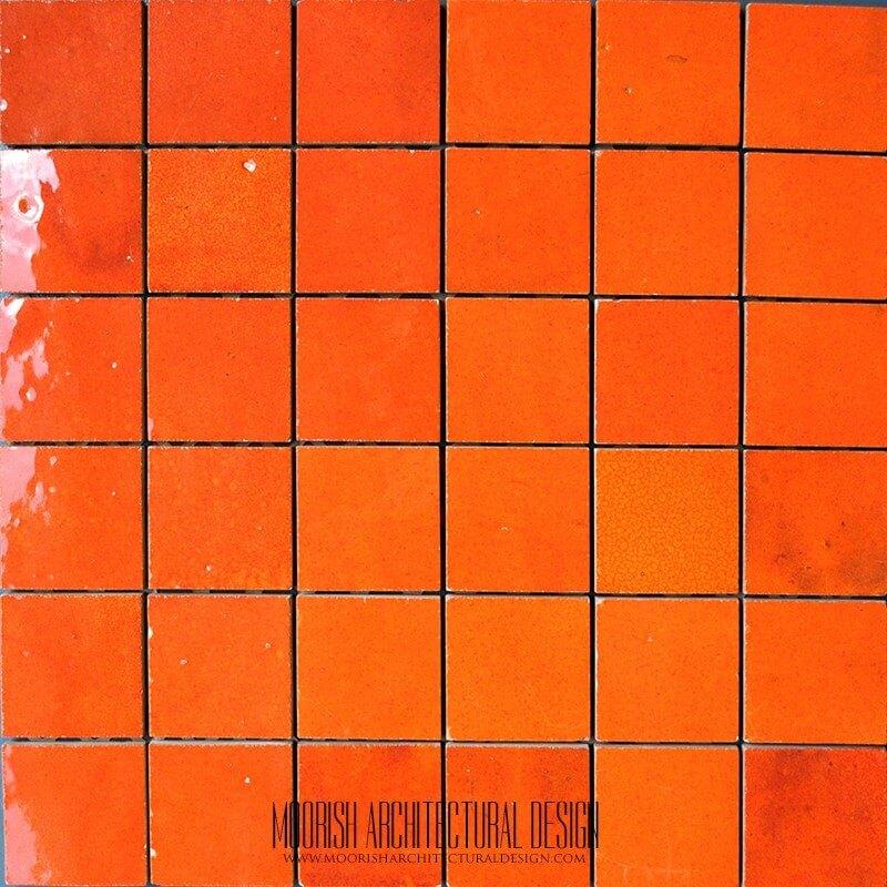 Moroccan Orange Tile
