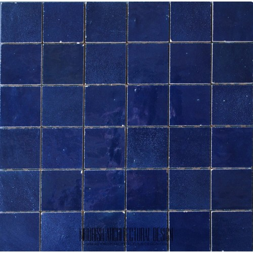 Blue Moroccan pool Tile - Blue Moorish bathroom tiles ...