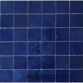 Deep Blue Moroccan Tile