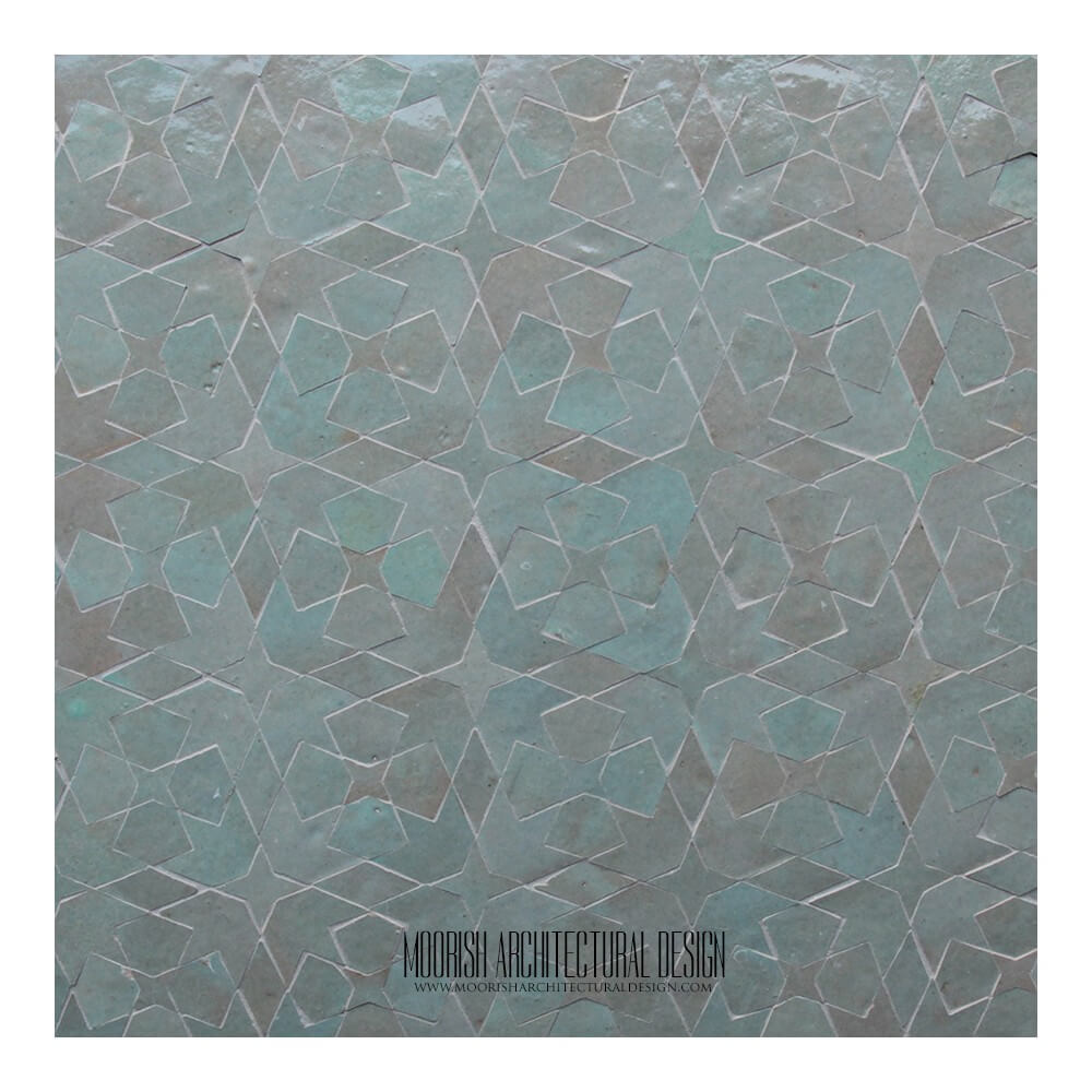 Mint Green Moroccan Tile Moorish Bathroom Tile