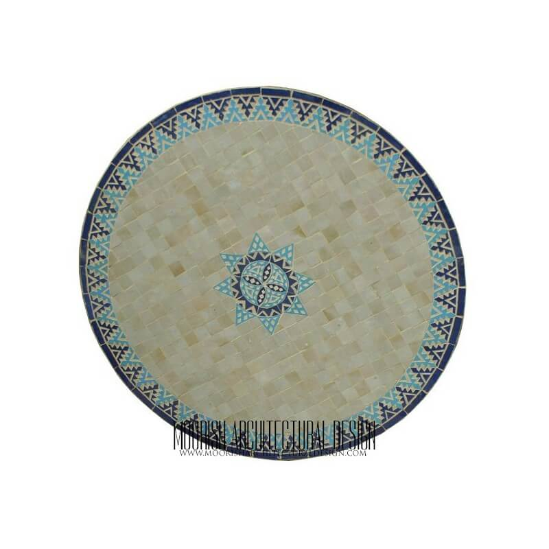 round moroccan mosaic table