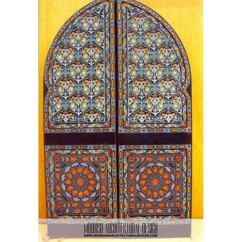 Moroccan exterior door