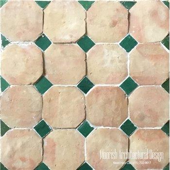 Moroccan Octagonal Terracotta Tile
