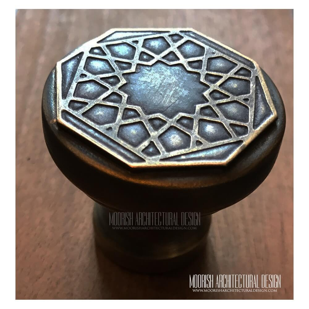 Moorish Brass Hardware Kitchen Cabinet Hardware Knobs