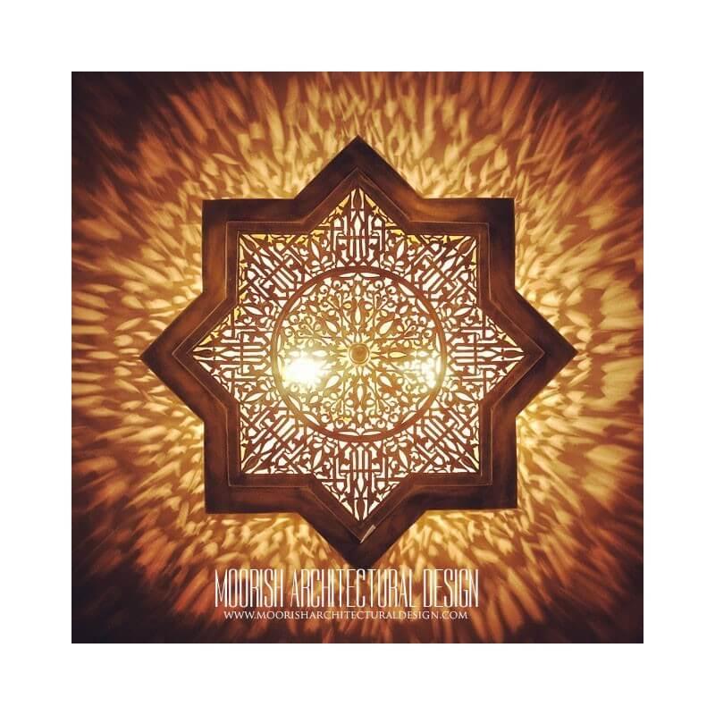 Eight Point Star Ceiling Light