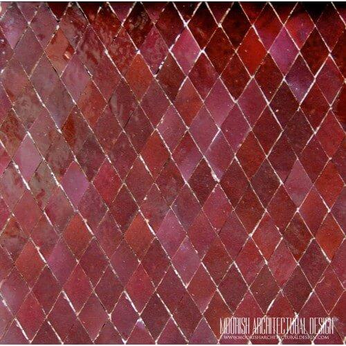 Red Moroccan Diamond Tile