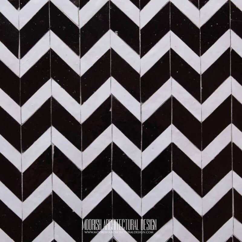 moroccan tile black and white