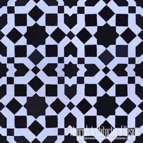 Moroccan Monochrome Tile 10