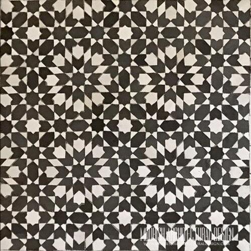 Moroccan Monochrome Tile 11