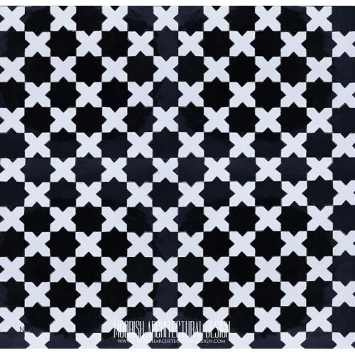 Moroccan Monochrome Tile 13