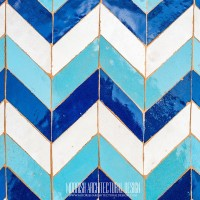 Moroccan Floor and wall tiles in the Moscow, Russia
