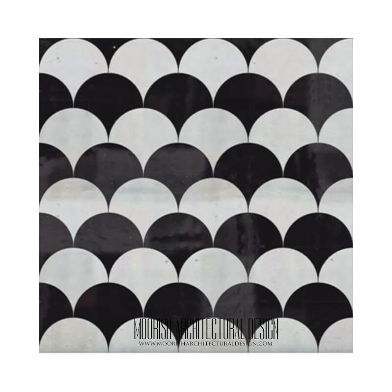 Black White Kitchen Tile